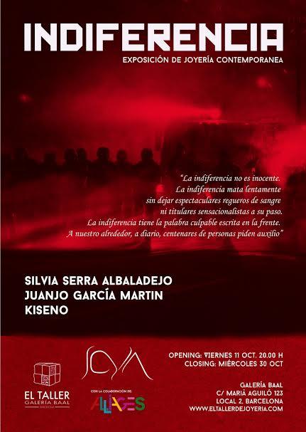 cartel de la exposición de Joyería contemporánea Indiferencia